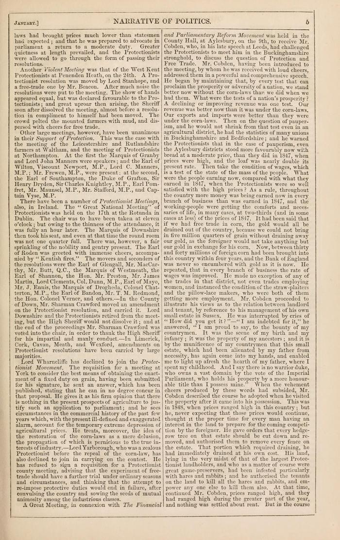 Facsimile of Household Words Narrative, Year 1850, Page 5.