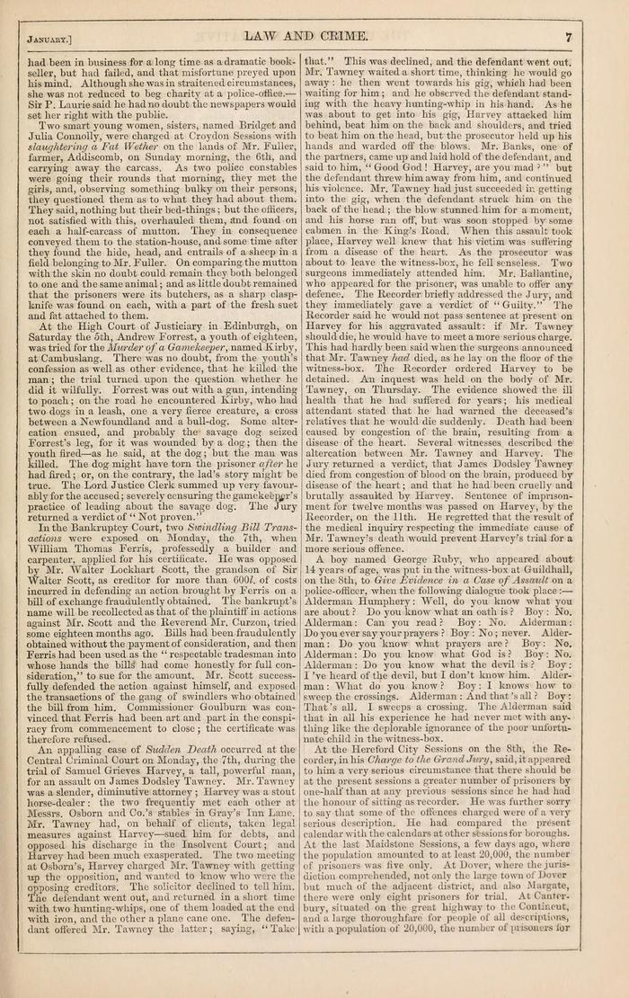 Facsimile of Household Words Narrative, Year 1850, Page 7.