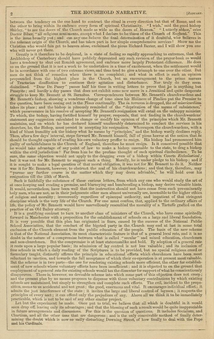 Facsimile of Household Words Narrative, Year 1851, Page 2.