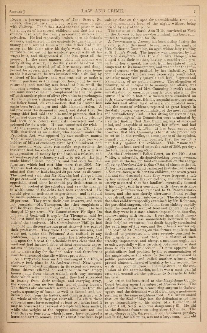 Facsimile of Household Words Narrative, Year 1852, Page 7.