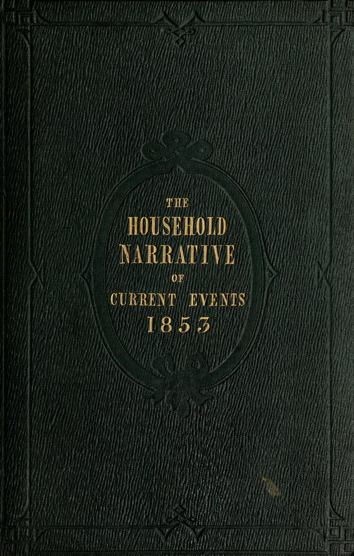 Facsimile of Household Words Narrative, Year 1853, Page I.