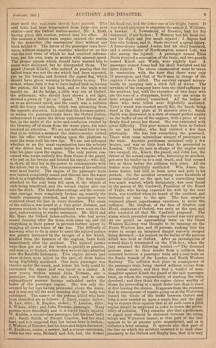 Facsimile of Household Words Narrative, Year 1853, Page 9.