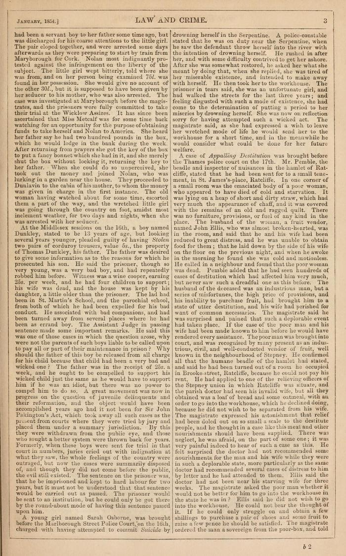 Facsimile of Household Words Narrative, Year 1854, Page 3.