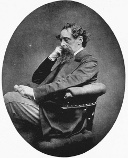 Portrait taken in 1868 during Dickens's second visit to the US, by an American photographer called  Jeremiah Gurney (1812-86), who had a studio in Manhattan.